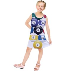 Racked Billiard Pool Balls Kids  Tunic Dress