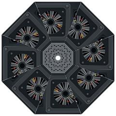 Special Black Power Supply Computer Hook Handle Umbrellas (small)