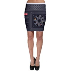Special Black Power Supply Computer Bodycon Skirt