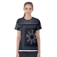 Special Black Power Supply Computer Women s Cotton Tee