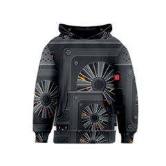 Special Black Power Supply Computer Kids  Pullover Hoodie