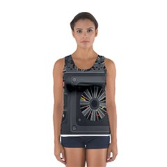Special Black Power Supply Computer Sport Tank Top