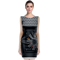 Special Black Power Supply Computer Classic Sleeveless Midi Dress