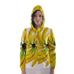 Bananas Decoration Hooded Wind Breaker (women)