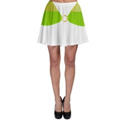Green Swimsuit Skater Skirt