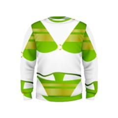 Green Swimsuit Kids  Sweatshirt