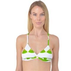 Green Swimsuit Reversible Tri Bikini Top