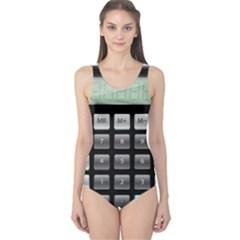 Calculator One Piece Swimsuit