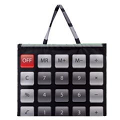 Calculator Zipper Large Tote Bag