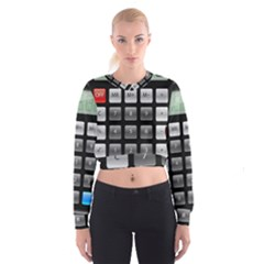 Calculator Cropped Sweatshirt