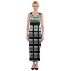 Calculator Fitted Maxi Dress