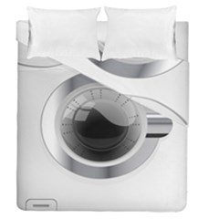 White Washing Machine Duvet Cover Double Side (queen Size)