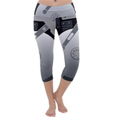 Computer Hard Disk Drive Hdd Capri Yoga Leggings
