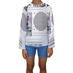 Standard Computer Case Back Kids  Long Sleeve Swimwear