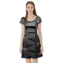 Tire Short Sleeve Skater Dress
