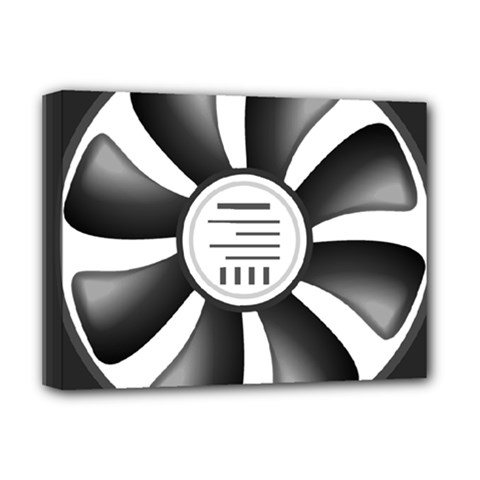 12v Computer Fan Deluxe Canvas 16  X 12