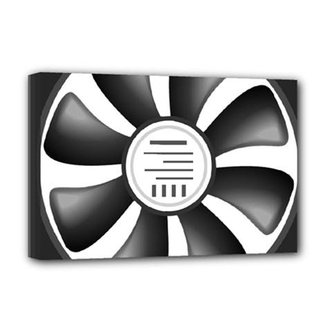 12v Computer Fan Deluxe Canvas 18  X 12