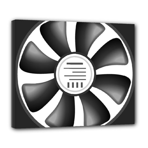 12v Computer Fan Deluxe Canvas 24  X 20