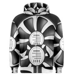 12v Computer Fan Men s Zipper Hoodie