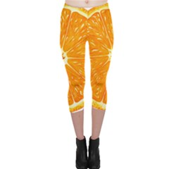 Orange Slice Capri Leggings