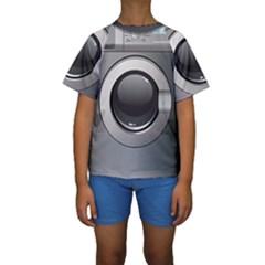Washing Machine Kids  Short Sleeve Swimwear