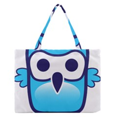 Owl Logo Clip Art Medium Zipper Tote Bag