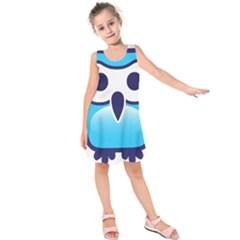 Owl Logo Clip Art Kids  Sleeveless Dress