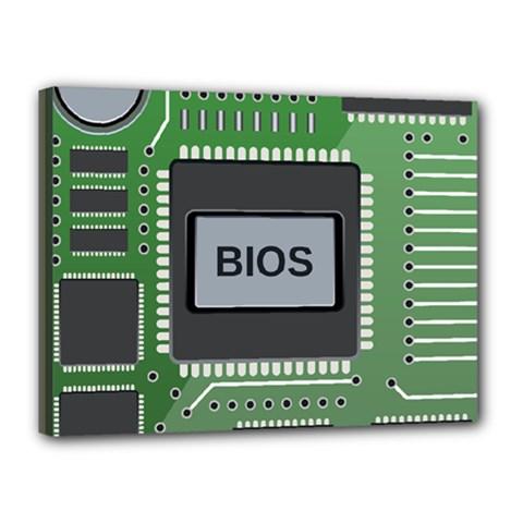 Computer Bios Board Canvas 16  X 12