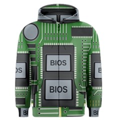 Computer Bios Board Men s Zipper Hoodie