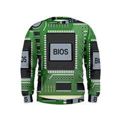 Computer Bios Board Kids  Sweatshirt
