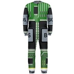 Computer Bios Board Onepiece Jumpsuit (men)