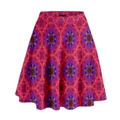 Retro Abstract Boho Unique High Waist Skirt