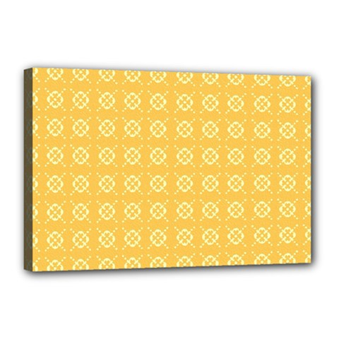 Yellow Pattern Background Texture Canvas 18  X 12