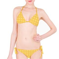 Yellow Pattern Background Texture Bikini Set