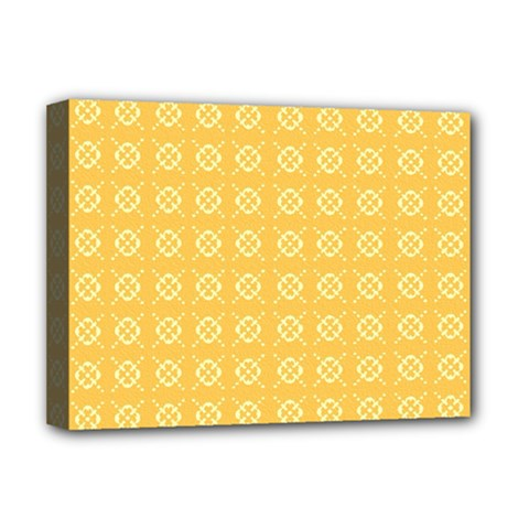 Yellow Pattern Background Texture Deluxe Canvas 16  X 12