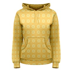 Yellow Pattern Background Texture Women s Pullover Hoodie