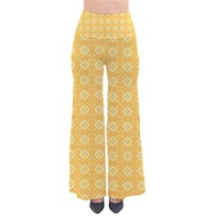 Yellow Pattern Background Texture Pants
