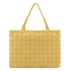 Yellow Pattern Background Texture Medium Tote Bag