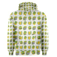 St Patrick S Day Background Symbols Men s Pullover Hoodie