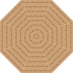 Brown Pattern Background Texture Straight Umbrellas