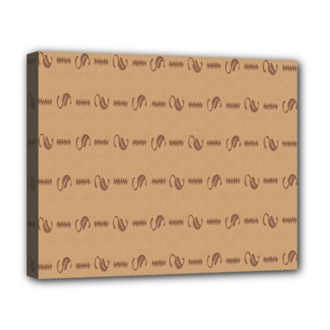 Brown Pattern Background Texture Deluxe Canvas 20  X 16