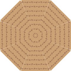 Brown Pattern Background Texture Hook Handle Umbrellas (small)