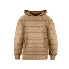 Brown Pattern Background Texture Kids  Pullover Hoodie