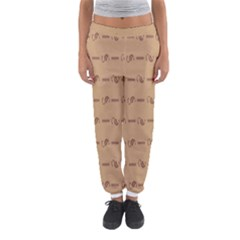 Brown Pattern Background Texture Women s Jogger Sweatpants
