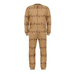 Brown Pattern Background Texture Onepiece Jumpsuit (kids)