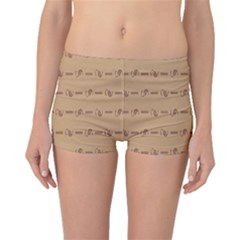 Brown Pattern Background Texture Boyleg Bikini Bottoms