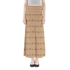 Brown Pattern Background Texture Full Length Maxi Skirt
