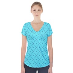 Pattern Background Texture Short Sleeve Front Detail Top