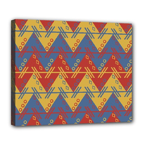 Aztec South American Pattern Zig Deluxe Canvas 24  X 20