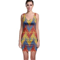Aztec South American Pattern Zig Bodycon Dress
